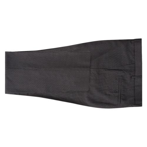 Мужская двух частей Деловой костюм Серый Полосатый Размер 46