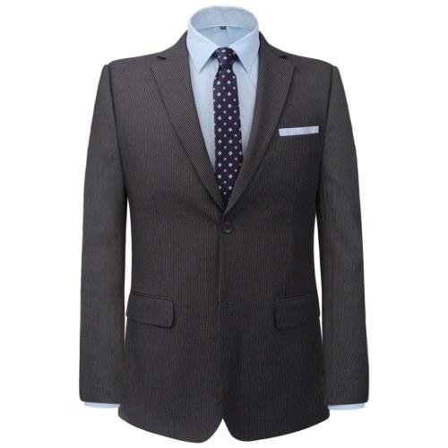 Uomo  due pezzi vestito di affari grigio a righe Taglia 50