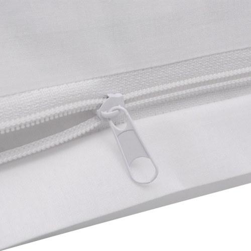 two piece duvet cover set cotton white 135x200/80x80 cm