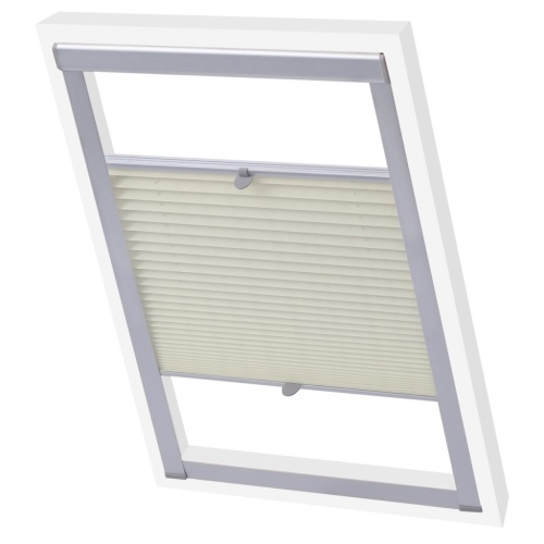 pleated blinds cream m08/308