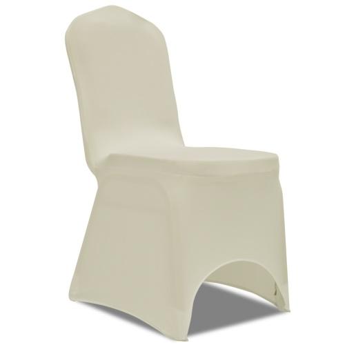 Stretch copertura della sedia 4 pezzi Crema