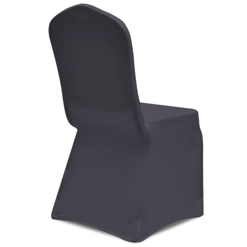 copertura della sedia Stretch 4 pezzi antracite