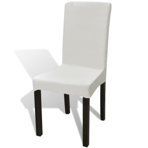 dritto elastico copertura della sedia 4 pezzi Crema