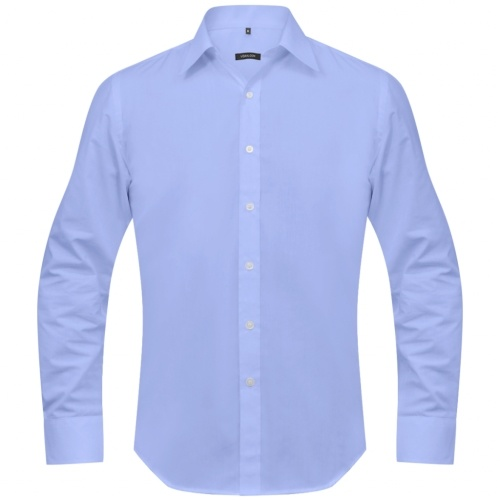 men's business shirt size m light blue