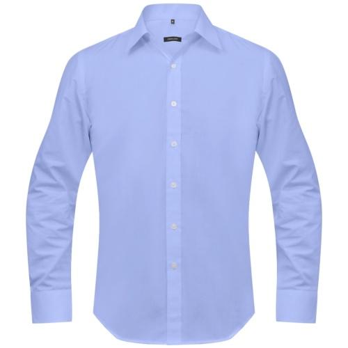 Uomo Camicia da uomo Taglia L Blu chiaro