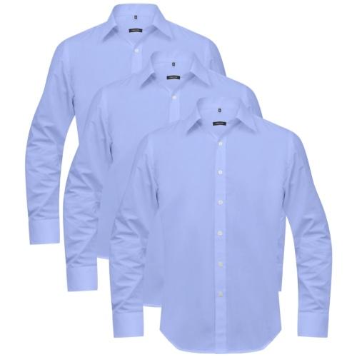 Uomini Camicie da Uomo 3 pezzi Dimensione XXL Azzurro
