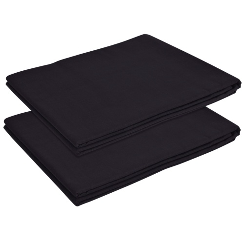 Flat Sheet 2 pezzi Cotone 240x260 cm Nero