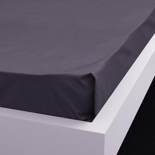 Lenzuolo Flat 2 pz. Cotone 146x260 cm Antracite