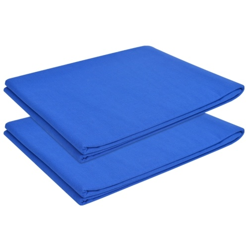 Lenzuolo piatto 2 pezzi Cotone 146x260 cm Royal Blue