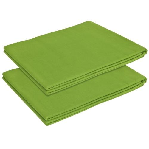 Flat Sheet 2 pezzi Cotone 240x260 cm Apple Green