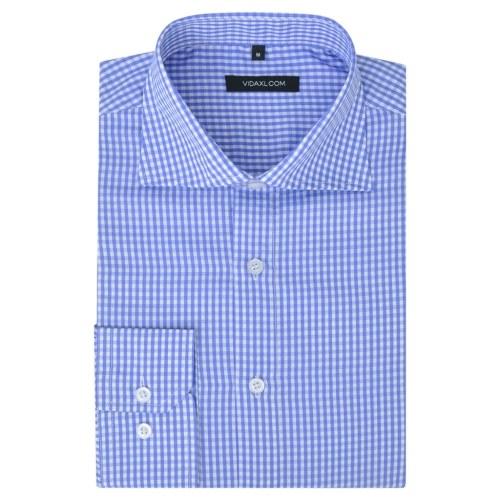 Chemise d'affaires HommeX de  Blanc et bleu clair Taille de contrôle S