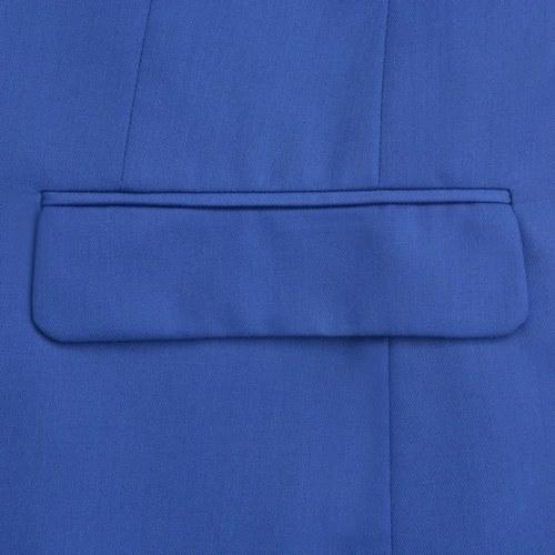 men's two piece suit royal blue size 46
