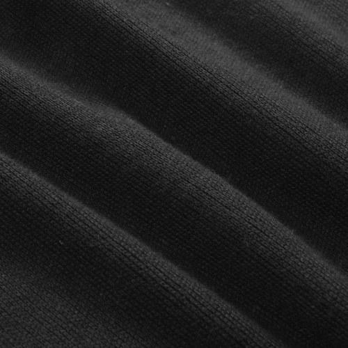 men's zip pullover sweater black m