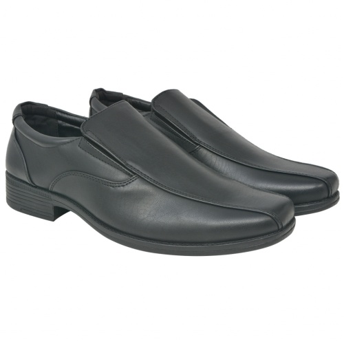 Men's Loafers Black Size 44 PU Leather