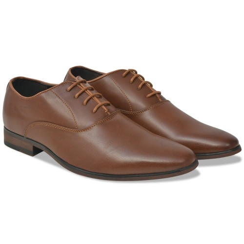 men's business shoes lace-up brown size 44 pu leather