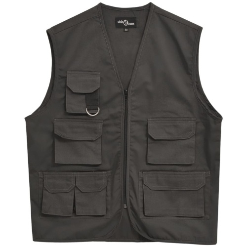 Men's Work Vest Size L Grey