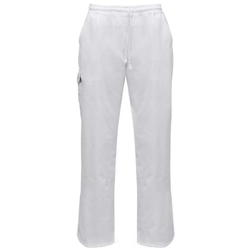 Chef Pants 2 pcs Stretchable Waistband with Cord Size S White