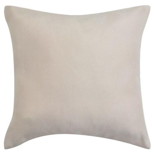 Cushion Covers 4 pcs 40x40 cm Polyester Faux Suede Beige