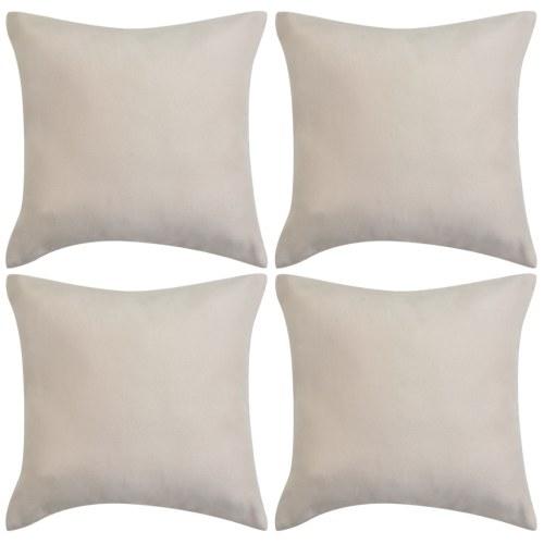 Чехлы для подушек 4 шт. 50x50 см Полиэфирные замши Faux Beige