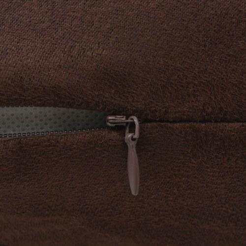 Чехлы для подушек 4 шт 40х40 см Полиэфирная искусственная замша Коричневый