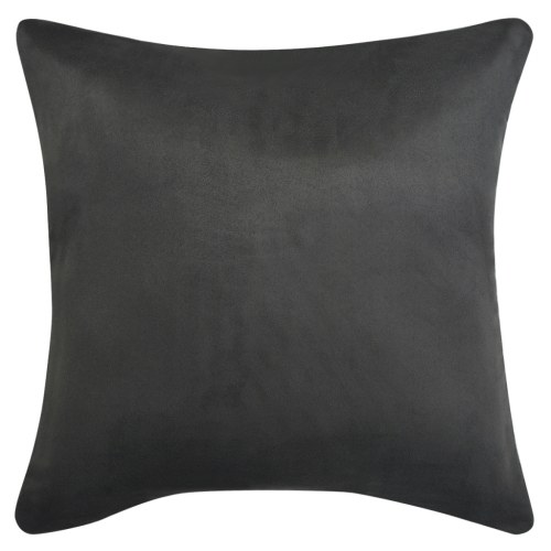 Чехлы для подушек 4 шт 40х40 см Полиэфирная искусственная замша Антрацит