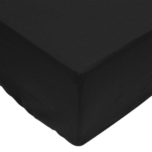 Оборудованные листы 2 шт. 90х220 см Хлопок Черный