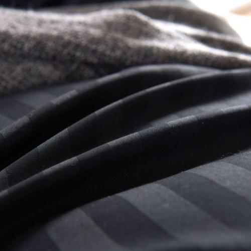 3 шт. Пододеяльник Комплект сатинировки хлопка 200х200 / 80х80 см Черный