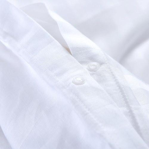 3 шт. Комплект пододеяльника Комплект сатинировки хлопка 200х200 / 80х80 см Белый