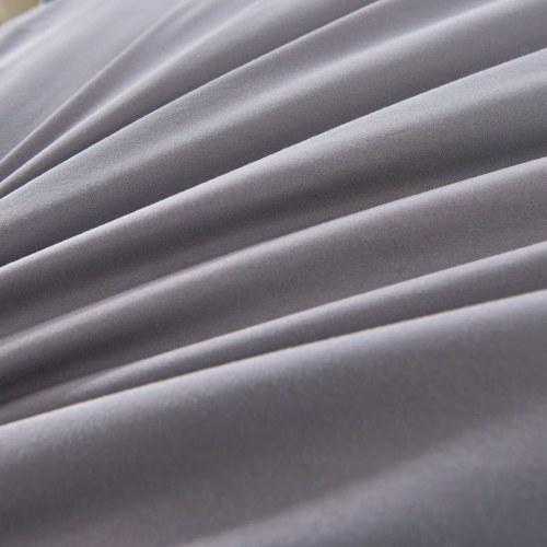 Комплект из трикетки с подкладкой из трех частей Антрацит 240x220 / 60x70 см