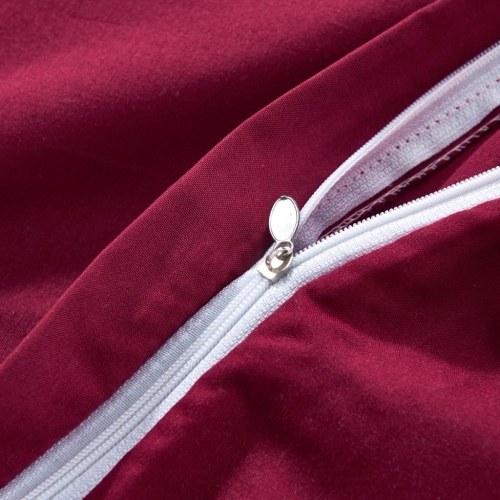 Три штуки для одеяла с надписью Burgundy 200x200 / 80x80 см