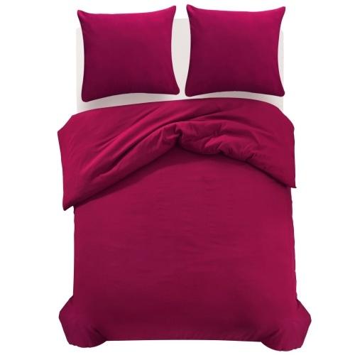 Три штуки надувной одеяло Комплект Бургундия 200x220 / 60x70 см