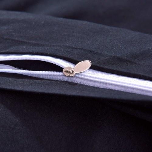 Набор из трех частей пододеяльника черного цвета 200x200 / 60x70 см