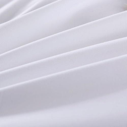 Три штуки Пододеяльник Комплект Белый 200x200 / 60x70 см