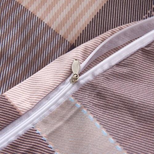 Набор из двух подушечек для одеяла Хаки Клетчатая печать 140x220 / 60x70 см