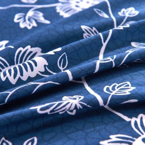 Набор для двухслойной обложки из двух частей Цветочная печать 155x200 / 80x80 см