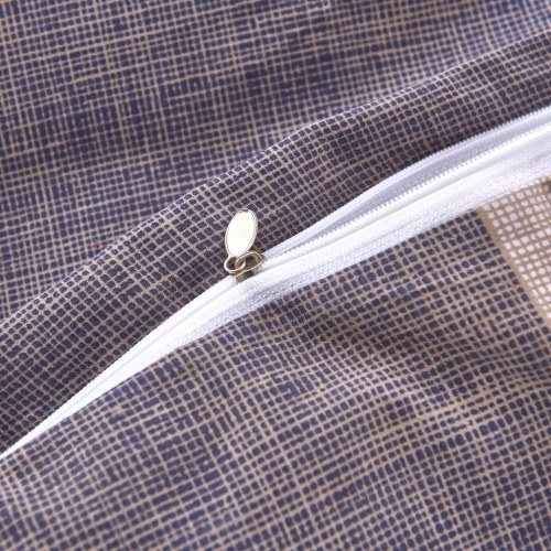 Комплект для наложения пухового одеяла с тремя штучками Проверить кофе для кофе 240х220 / 80х80 см