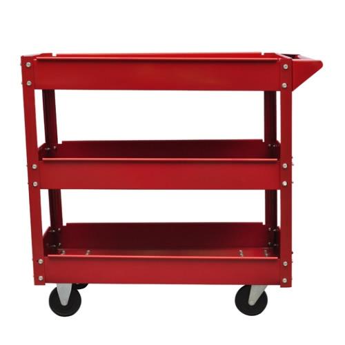 2 x Workshop Tool Trolley 100 kg 3 Shelves