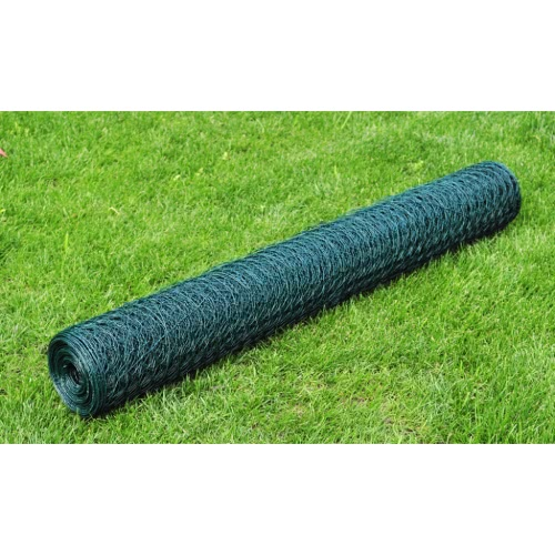 Hexagonal Wire Netting 1 mx 25 m en PVC enduit Epaisseur 0,8 mm