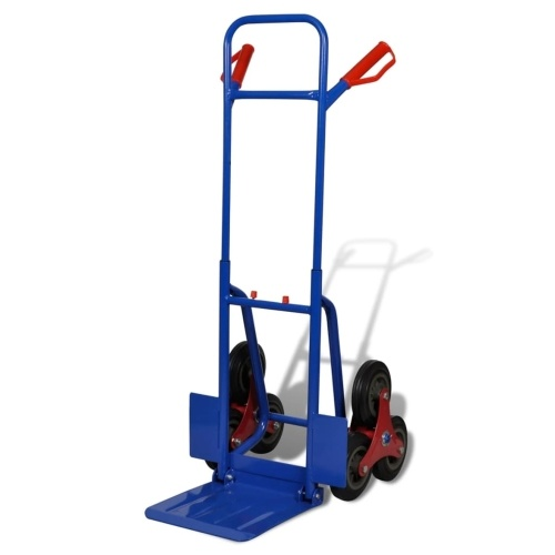 6-wheel Blue-red Sack Truck with 200 kg Capacity
