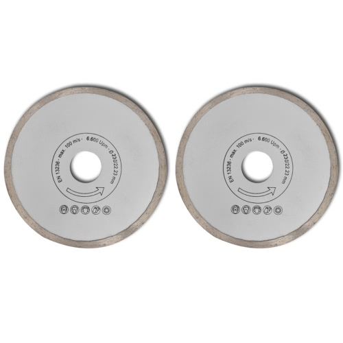 Diamante viu a lâmina aro contínuo 230 mm 2pcs