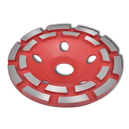 180 millimetri di diamante di rettifica Coppa rotella doppia fila