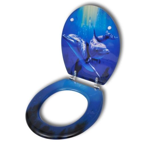 WC Toilet Seat MDF duro Chiud.cop spettacolare sguardo Delfini