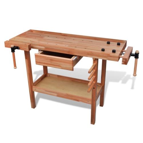 Banco de madera Carpintería Trabaja con cajón 2 Vises
