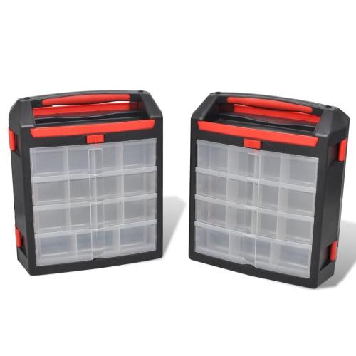 Tool Case 2 pcs Tool Box Tool Storage