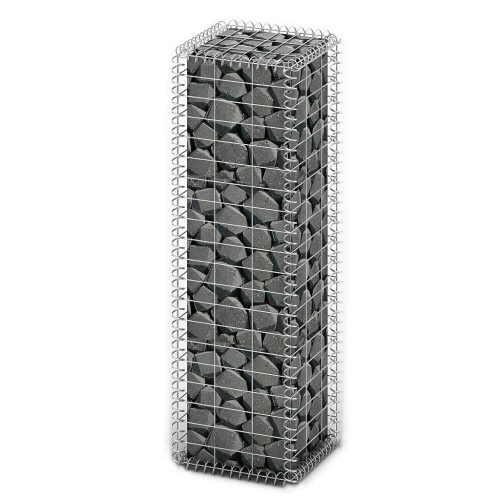Gabion Basket Wall with Lids Galvanized Wire 100 x 30 x 30 cm