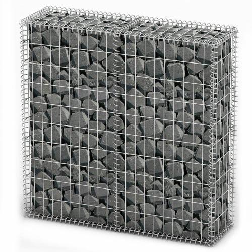 Gavión Basket Pared con tapas de alambre galvanizado de 100 x 100 x 30 cm