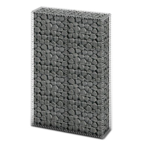 Gavión Basket Pared con tapas de alambre galvanizado de 150 x 100 x 30 cm