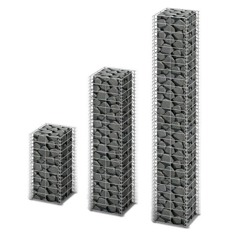 Gabion Set Gabion Wall Galvanized Wire Different Sizes 3 pcs