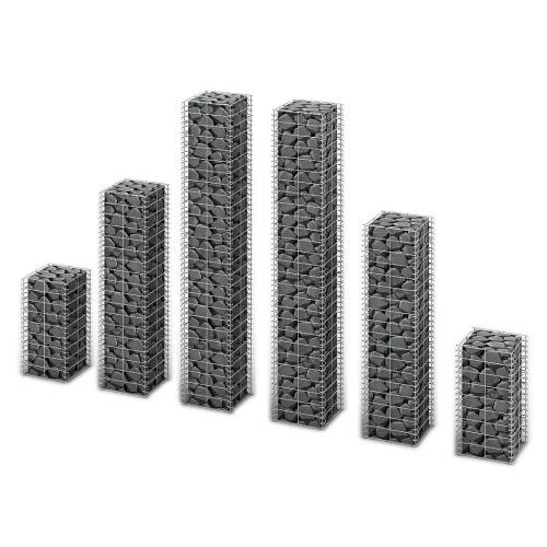 Gabion Set 6 pcs Gabion Wall Galvanized Wire Different Sizes