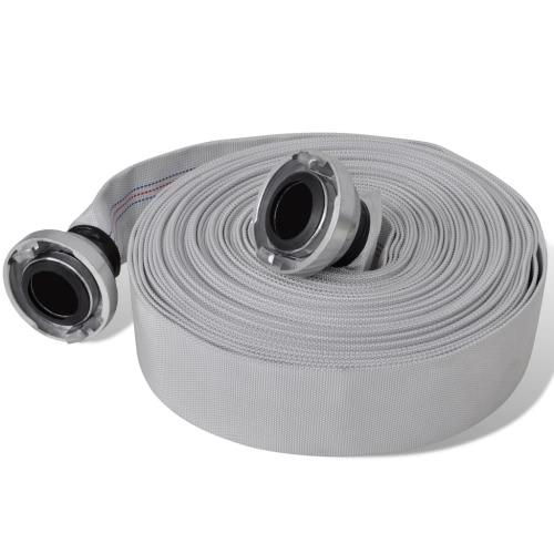 Tubo flessibile antincendio piatto 30 m con giunti C-Storz 2 pollici